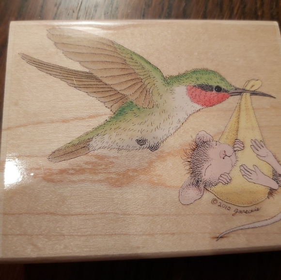 HUMMINGBIRD( STORK) BABY DELIVERY-SCRAPBOOK stamp